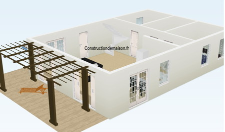 Plan de maison en construction - 3 Dimensions