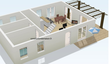 Plans de maison 2 et 3d for Construction maison 3d