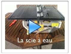 Vidéo sur la découpe du carrelage avec une scie à eau