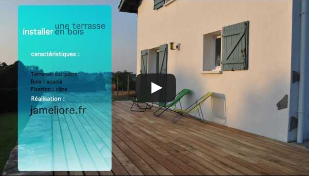 Vidéo construction terrasse